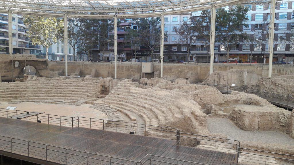 Pozostatky rímskeho divadla v Zaragoze