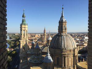 Výhľad z veže baziliky El Pilar