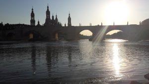 Výhľad na baziliku El Pilar, Zaragoza, Španielsko