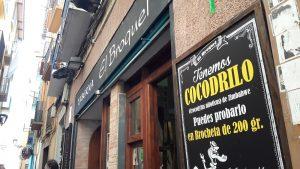 V taverne El Broquel v Zaragoze vám naservírujú aj krokodíla.
