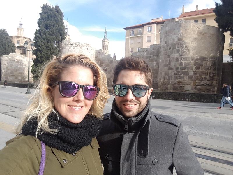 Zachovalé hradby mesta Zaragoza (Cézara Augusta)