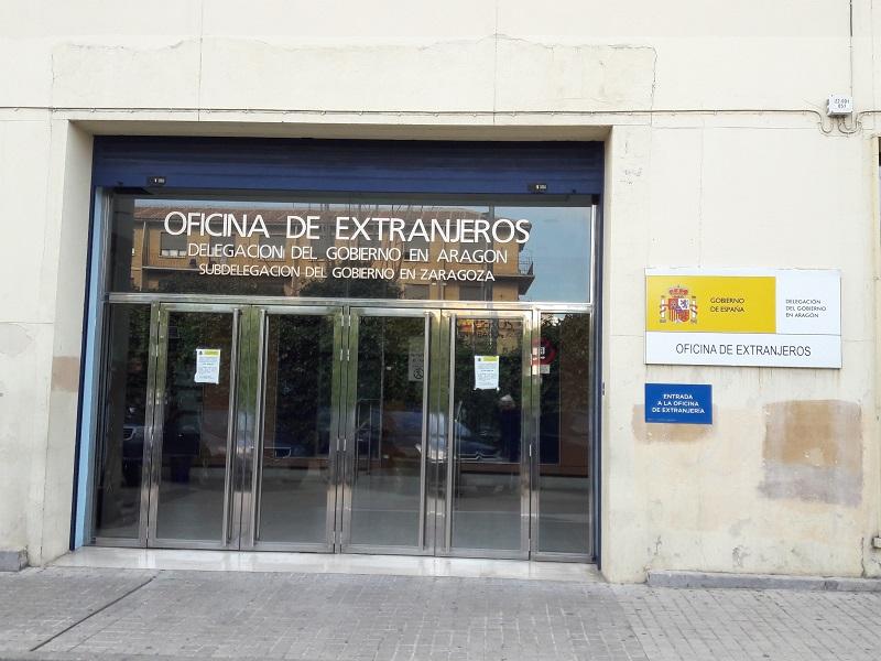 Oficina de Extranjeros, Zaragoza (Španielsko)