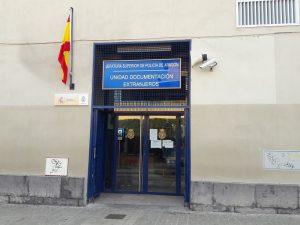 Policajná stanica na registráciu do Centrálneho registra, Zaragoza (Španielsko)