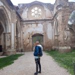 Kostol bez strechy v Monasterio de Piedra, Španielsko