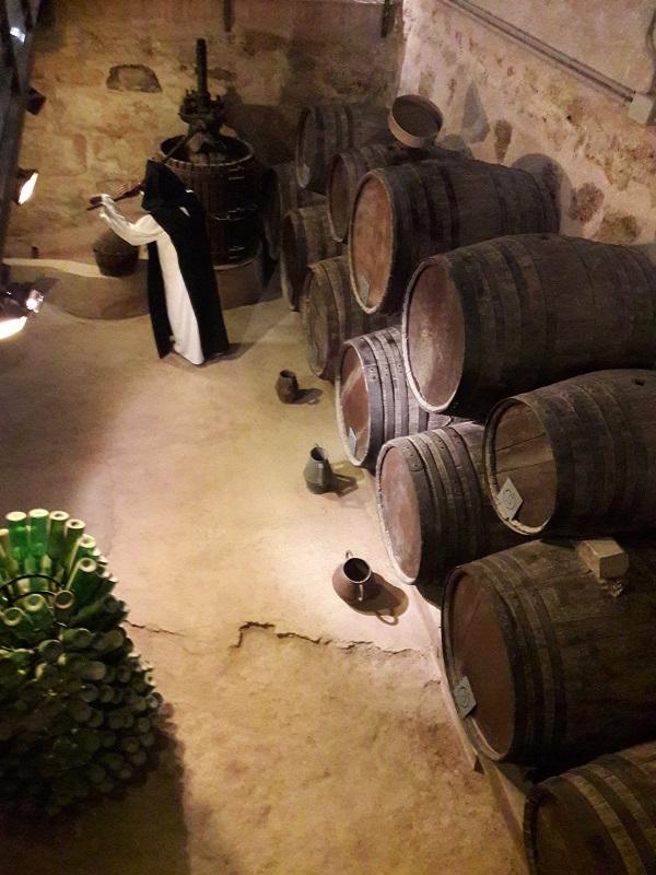 Múzeum vína (Museo del vino) v Monasterio de Piedra, Španielsko