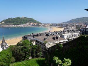 Výhľad na mesto San Sebastian, Španielsko