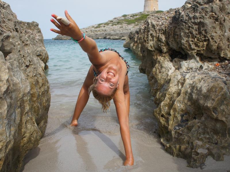 Skrytá pláž na Menorke