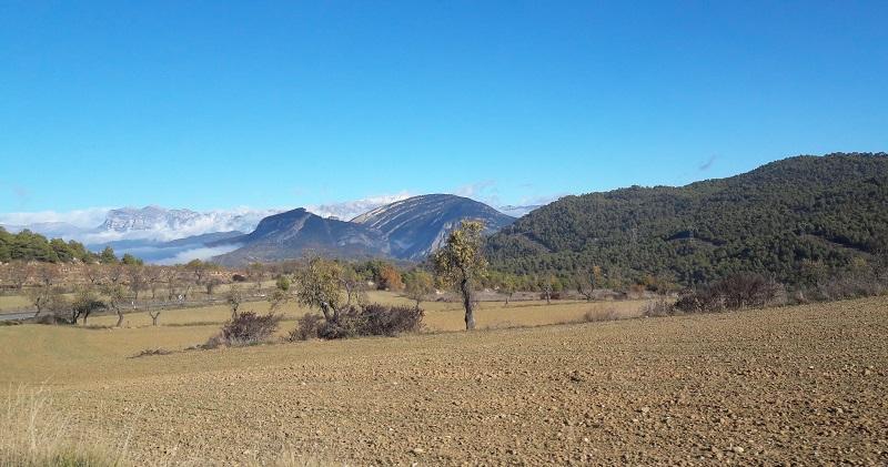 Cesta do obce Aínsa