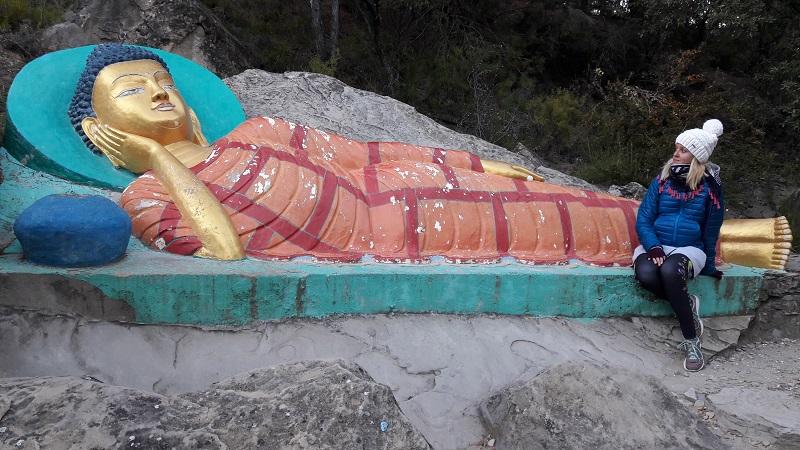 Ležiaci Budha Budhisticky chram Spanielsko