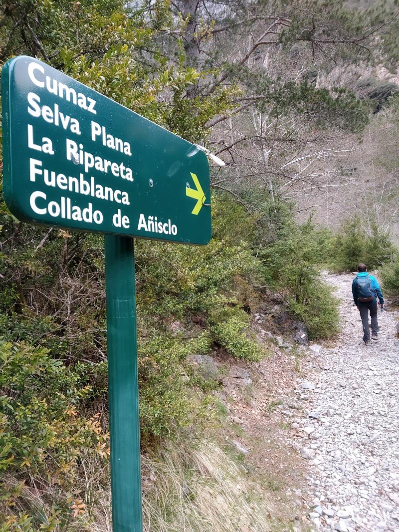 Smer do sedla Collado de Anislo v Pyrenejach