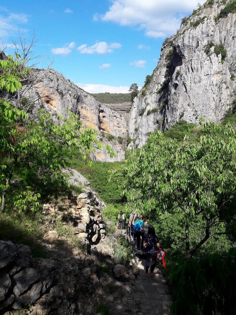 Zaciatok trasy Pasarelas de Alquezar