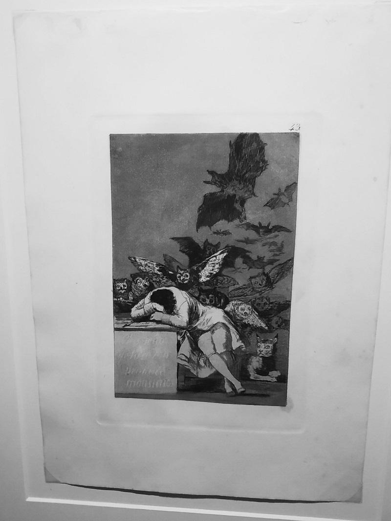 Goya grafika Sen o rozume vytvara prisery Fuendetodos