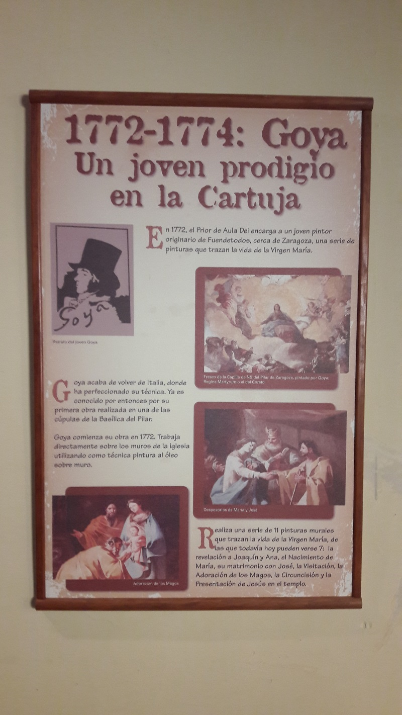 Goyove obrazy v kostole klastora Spanielsko