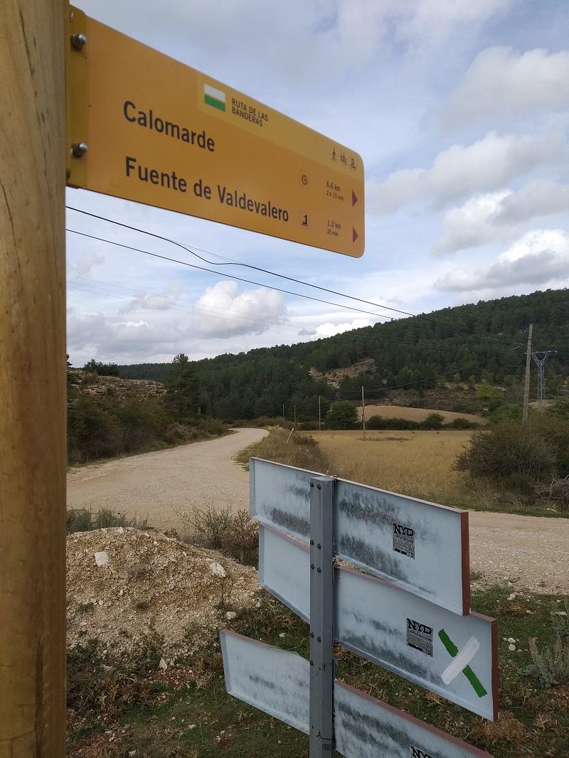 cesta spat do Calomarde