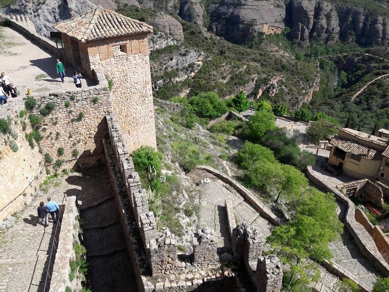 System obrany schodisko Castillo de Alguézar