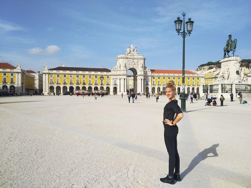 Námestie Praça do Comércio v Lisabone