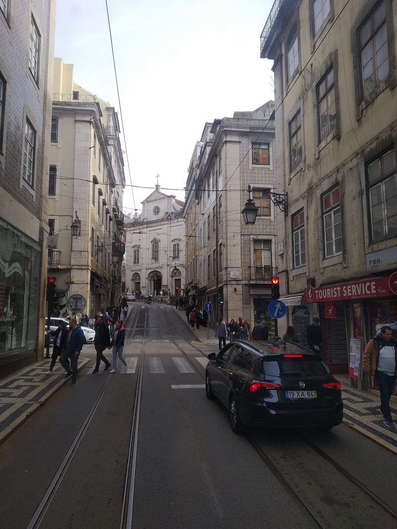 V blízkosti ulice Rua Augusta, ktorá vedie k víťaznému oblúku