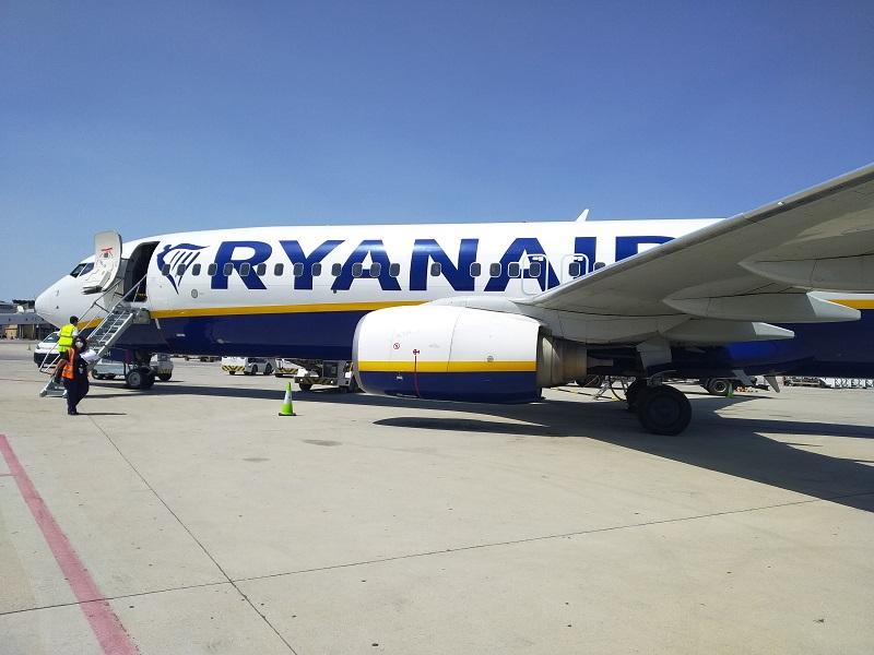 Lietadlo spolocnosti Ryanair Madrid Vieden