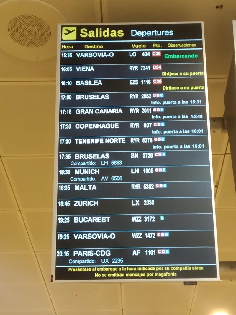 Odlety letisko Madrid Barajas