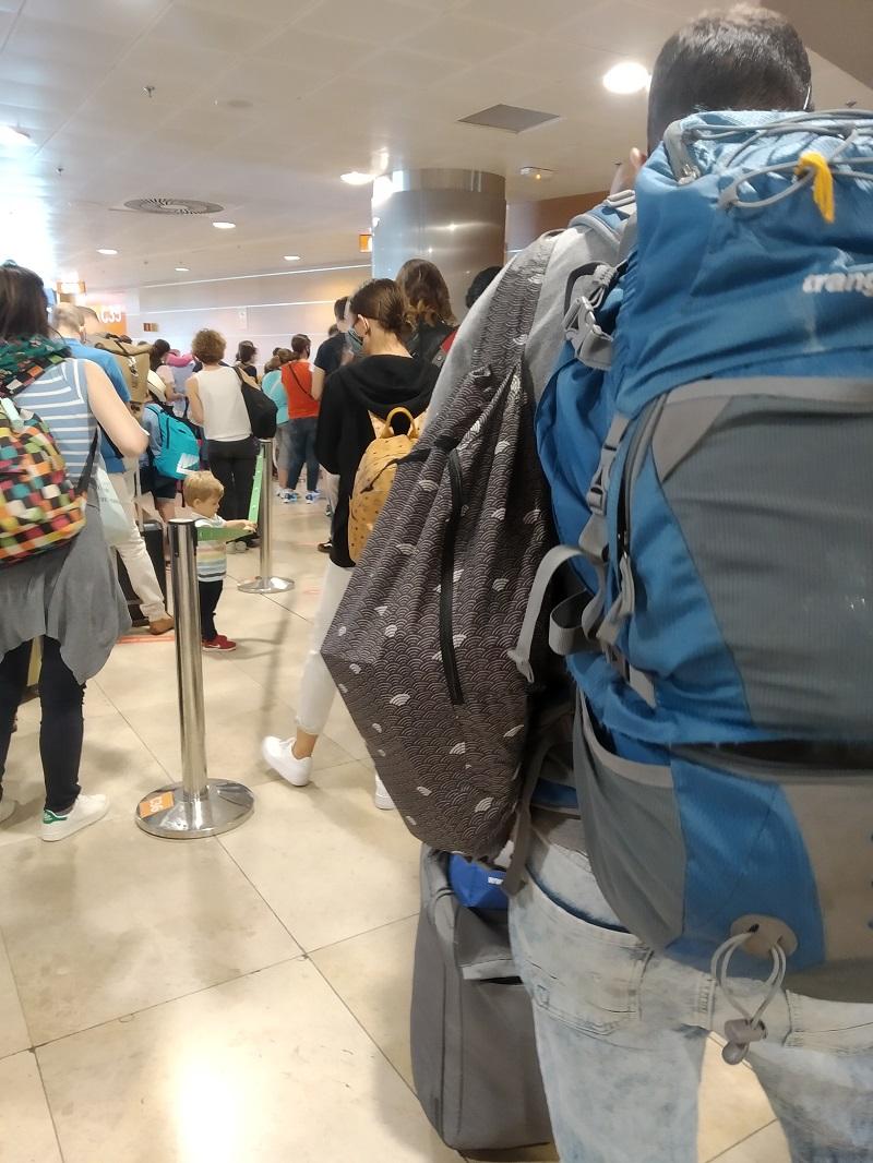 Rada na bráne pri odlete z Madridu